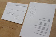 Minimalist Nature Wedding Invitation - Ivy (Sample Set)