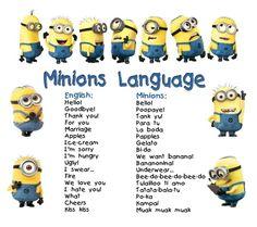 minion language more minions speaking speaking minions minions    Minion Language Dictionary