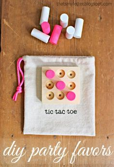 Looking for an easy to make party favor? Portable tic tac toe game made with wood scraps. *** CHOKING HAZARD: NOT SUITABLE FOR TODDLERS *** How to make tic tac toe party favors: 1. Use a 1×4 scrap cut at 3 1/2″ long. Draw the grid using the dimensions below, dimensions are the same both... Read more