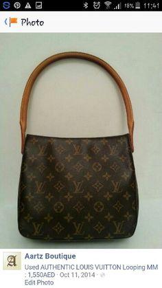 AUTHENTIC LOUIS VUITTON Looping MM : 1,450AED  Good condition Size : 24 x 21 x 10cm  Contact : +971557553950 Whatsapp  #louisvuitton #preownedbags #authentic #original #brandnew #dubai #uae #lv #usedbags #lvbag #louisvuittonbags #prelovedbags #luxurybags #luxuryitems #brandedbags #authenticbags #speedy30 #speedydamier #damier #lvvintageclutch #lvvintageclutch #lvpochettetwin #lvlooping Lv Pochette, Dubai Uae, Branded Bags, Luxury Bags, Authentic Louis Vuitton, Louis Vuitton Monogram, Photo Editing, Brand New, Boutique