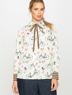 Conversational Print Blouse from eloquii.com