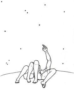 Não há nada mais romântico do que olhar as estrelas *-*