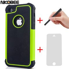 NKOBEE 7 7 Plus Hybrid Silicon Back Case Cover for Apple iphone 5C 5 C 5 5S 6  For i phone 6 6S 7 7 Plus Touch pen+Screen Gift b1b699b3942ca