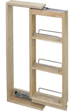 Get Hardware Resources WFPO330 Wall Cabinet Filler Pullout 3'' X 11-1/8'' X 30''