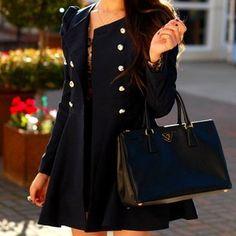 Gossip Girl Double Button Coat