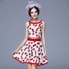 c737cfaa3c1880 Summer Style Designer Two Piece Sleeveless Print O-Neck Crop Top And Skirt  Set Women Vestidos Clothi