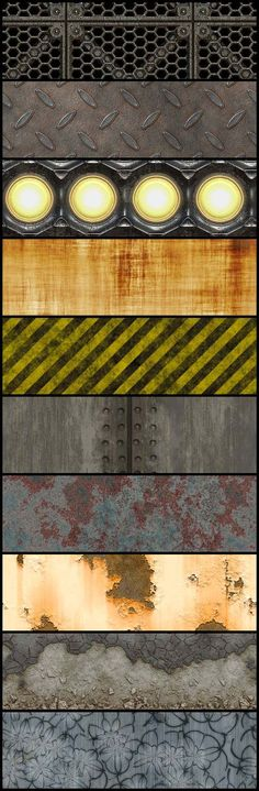 Download 10 Grunge, Rusty and Dirty Tileable Textures: