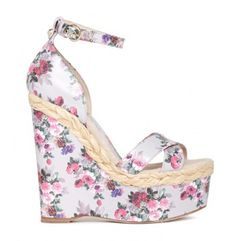 Shoes for women. Spring / Summer Fashion trends 2012 - Website For Women Spring Sandals, Summer Shoes, Wedge Sandals, Wedge Shoes, Shoes Sandals, Floral Wedges, Floral Heels, Mens Loafers Shoes, Brian Atwood Shoes
