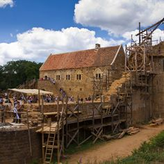 Guedelon, France: Castle being built with same tools and methods from the medieval era.