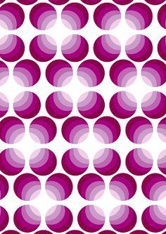 Pete Hall greeting card design purple