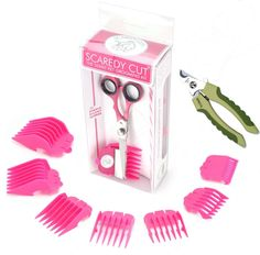Scaredy Cut Silent Pet Grooming Kit For Cats and Dogs Quiet Alternative to Electric Clippers For Sensitive Pets RightHanded Pink >>> For more information, visit image link. (This is an affiliate link) Dog Grooming Supplies, Grooming Kit, Dog Supplies, Grooming Salon, Grooming Dogs, Safari Nails, Yorkie Haircuts, Cat Haircut, Pillos