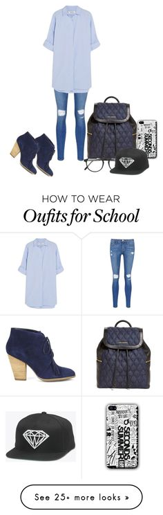 """School Outfit #13"" by katemaghentyson on Polyvore featuring Frame Denim, MiH Jeans, Vera Bradley, Sole Society and RetroSuperFuture"