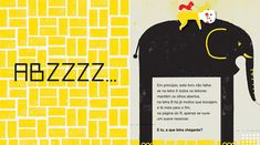 Illustrations by Yara Kono – from 'ABZZZZ...' (written by Isabel Minhós Martins and published by Planeta Tangerina)