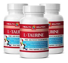 Taurine hair - L-TAURINE 500MG - increase testosterone levels (3 Bottles) ** See this great product.