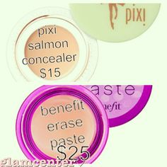 Pixi Salmon Concealer is a dupe for Benefit's Erase Paste http://www.pinterest.com/retro_mommy/dupes/