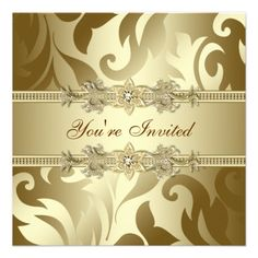 Gold Corporate Christmas Party Invitations