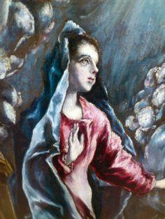 El Greco. De Italia a Toledo. Estudio técnico de las obras de la Colección Thyssen-Bornemisza. Anunciación C.1596-1600. (Detalle II)