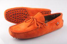 dae322a0e1 Tods Ferrari Orange Shoes Loafers For Men