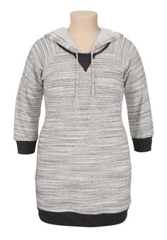 Spacedye hooded plus size dress.... This is the ultimate cozy fall wear with leggings and boots dress....