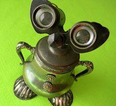 SUGAR - A Sweet Little Trinket Box Robot Assemblage - Reclaim2Fame  Sculpture by Will Wagenaar