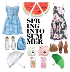 """""""Spring into summer"""" by melgcruz ❤ liked on Polyvore featuring Sans Souci, Converse, Gap, Fujifilm, Fuji, Casetify, Le Donne, Fulton and LEXON"""