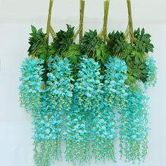 NUOLUX Artificial Wisteria Simulation Flowers Home Garden Garland Wedding Decor 12pcs 110cm (Tiffany Blue) >>> Details can be found by clicking on the image-affiliate link. #ArtificialPlants
