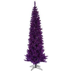 6.5' Vickerman K882666 Purple Ashley Pencil - Purple Christmas Tree