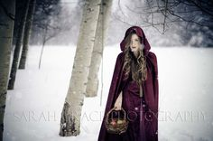 Little Red Riding Hood Winter Photoshoot. Sarah Grace Photography - getting pictures taken :)