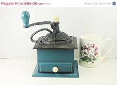 On Sale Vintage Coffee Bean Grinder Cast Iron Top by Molovintage2