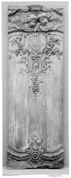 Panel fragment, early 18th century Culture:French Medium:Oak
