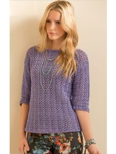 San Diego Pullover in Cotton Classic Lite Crochet Pattern | InterweaveStore.com