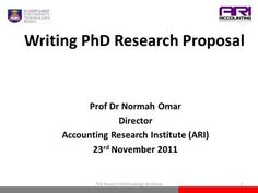 Key Elements Of The Research Proposal  Writing