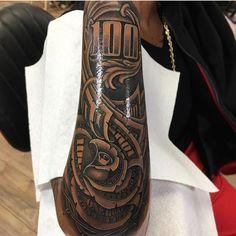 Money Art Project - Money Drawing Artworks - - Money Tree Kendrick Lamar - Philippine Money In Wallet Forarm Tattoos, Forearm Sleeve Tattoos, Tattoo Sleeve Designs, Rose Tattoos, Tattoo Designs Men, Body Art Tattoos, Tribal Tattoos, Hand Tattoos, Dope Tattoos For Women