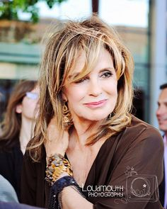 Linda Gray, via Flickr. (I love this hair color with the highlights)