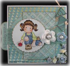 Card designed for Anything Goes Challenge Blog Magnolia Stamps, Digi Stamps, I Card, Challenges, Frame, Projects, Blog, Crafts, Design