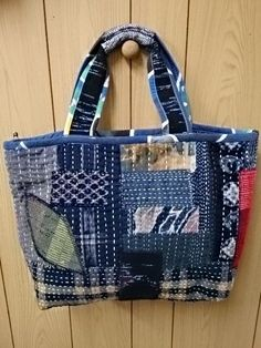 sashiko patchwork bag