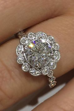 How Are Vintage Diamond Engagement Rings Not The Same As Modern Rings? If you're deciding from a vintage or modern diamond engagement ring, there's a great deal to consider. Custom Wedding Rings, Wedding Rings Vintage, Vintage Engagement Rings, Diamond Engagement Rings, Wedding Jewelry, Halo Engagement, Vintage Rings, Diamond Rings, Black Diamond