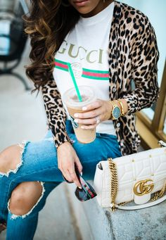 a274d29096c Easy Trick For Styling A Graphic Tee. Black Gucci ShirtGucci ...