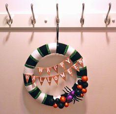 DIY Halloween Wreath Tutorial   Neon Rattail