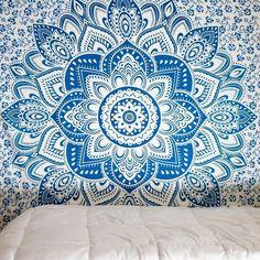 Tapestry | Shaded Blue Mandala