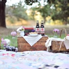 Vintage picnic wedding ideas