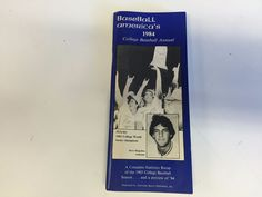 Vintage 1984 Baseball America;s College Annual Texas World Series Champions WOW