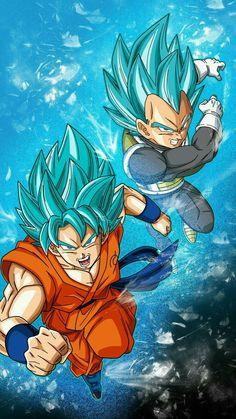 Goku ss god & Vegeta ss god #dragonball