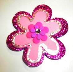 Pink Flower Magnet ~ Made by Christi Thomas
