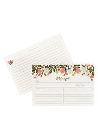 Rifle Paper Co. Hanging Garden x Recipe Cards -- Set of 12 Cards: Rifle Paper Co.'s hanging garden recipe cards will bring a punch of color to any kitchen. Sold in packages of Cards are two-sided and measure x Printed Recipe Cards, Recipe Card Boxes, Rifle Paper Co, Kitchen Recipes, Hostess Gifts, Best Gifts, Card Making, Floral Prints, 12 Recipe