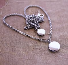 Mother and Daughter Matching Locket Necklaces