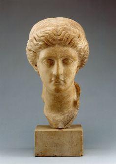 Portrait of a Lady -  Julio-Claudian imperial family   2 First quarter Century AD.  Location: Troy, Turkey. © Foto: Museum für Vor- und Frühgeschichte der Staatlichen Museen zu Berlin - Preußischer Kulturbesitz