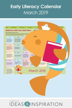Welcome spring with a March calendar full of early literacy activities parents can do at home with their little ones. Find craft ideas, math and science activities, book suggestions, songs, and much more! Before Kindergarten, Kindergarten Math, Free Activities, Literacy Activities, Math Songs, Calendar March, Reading Themes, Library Programs, Book Suggestions