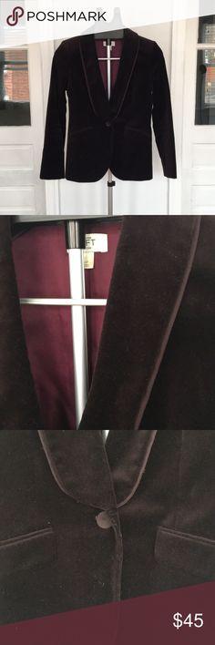 Plum Velvet Tuxedo Blazer Tuxedo style lapels- plum velvet material  4P from the Loft LOFT Jackets & Coats Blazers