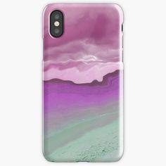 """""""Violet stormy days on a sandy beach - a new view of the World"""" iPhone Case & Cover by Artlajf   Redbubble New View, Strand, Iphone Case Covers, Iphone 11, Ipad Pro, World, Day, Beach, Nature"""